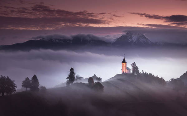 Church Photograph - Misty Morning by Sandi Bertoncelj