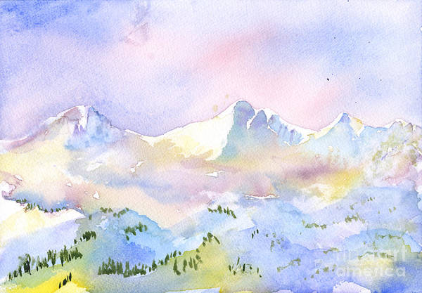 Painting - Misty Mountain by Walt Brodis