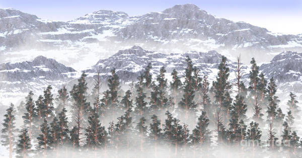 Digital Art - Misty Mountains Background by Elle Arden Walby