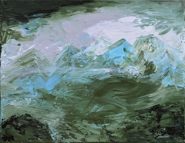 Wall Art - Painting - Misty Mountains by Donna Blackhall