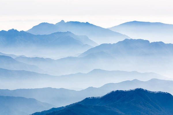 Range Photograph - Misty Mountains by Gwangseop Eom