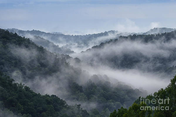 Allegheny Mountains Wall Art - Photograph - Misty Mountains West Virginia by Thomas R Fletcher