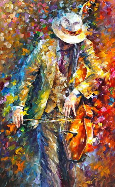 Violas Painting - Misty Music New by Leonid Afremov