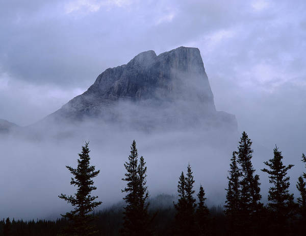 Photograph - 1m3928-a1-misty Roche Miette by Ed  Cooper Photography