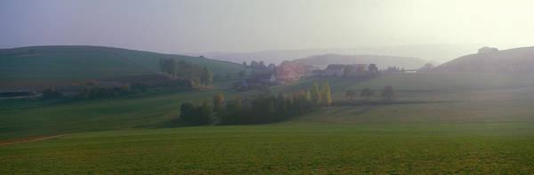 Envelop Wall Art - Photograph - Misty Rural Scene, Near Neuhaus, Black by Panoramic Images