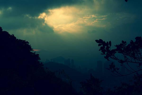 Hongkong Photograph - Misty Sunlight by Afrison Ma