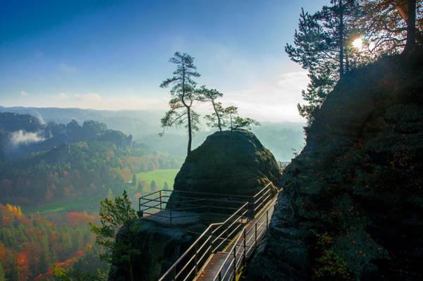 Photograph - Misty Sunrise On Neurathen Castle by Sun Travels