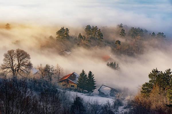Homes Photograph - Misty Winter Days by Bez Dan