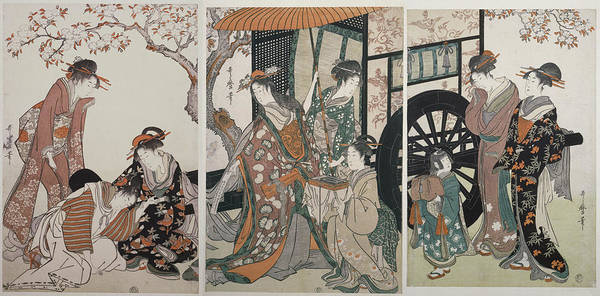 Wall Art - Painting - Mitate Gosho-guruma = Parody Of An Imperial Carriage Scene by Artokoloro