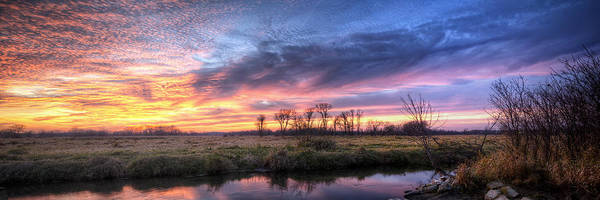 Mitchell Park Sunset Panorama Art Print
