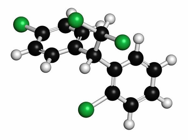 Pharma Wall Art - Photograph - Mitotane Cancer Drug Molecule by Molekuul