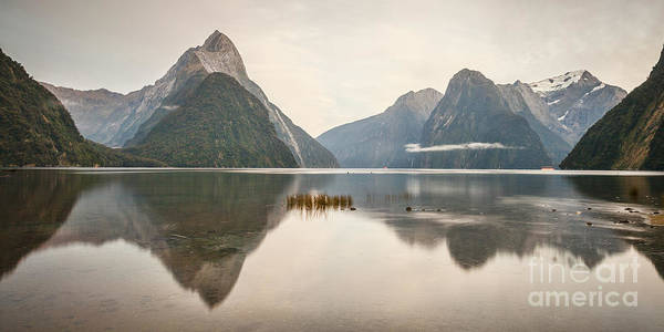 Milford Photograph - Mitre Peak Milford Sound Fiordland New Zealand In Early Morni by Colin and Linda McKie
