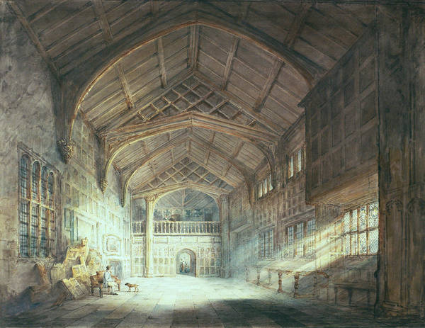 Beam Drawing - Mitton Hall, Lancashire by Joseph Mallord William Turner