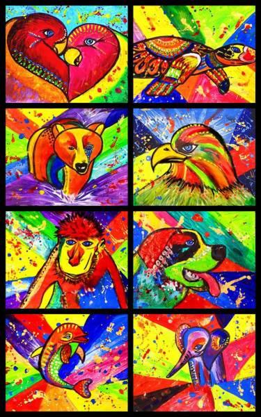 Mix Animal Pop Art Art Print