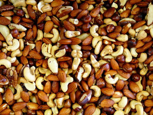 Photograph - Mixed Assortment Of Freshly Roasted Nuts by Jeff Lowe