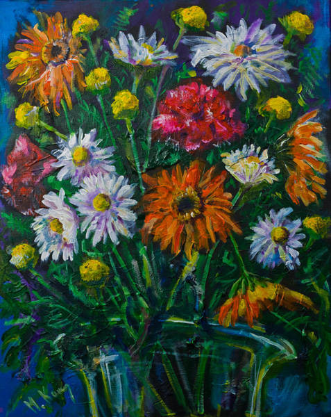 Painting - Mixed Flowers by Maxim Komissarchik