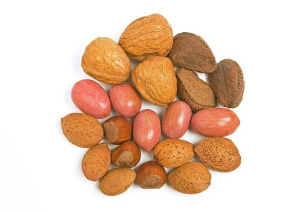 Walnut Photograph - Mixed Nuts by Ann Pickford