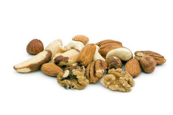 Walnut Photograph - Mixed Nuts by Geoff Kidd/science Photo Library
