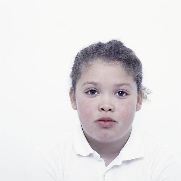 Wall Art - Photograph - Mixed Race Girl by Larry Dunstan/science Photo Library