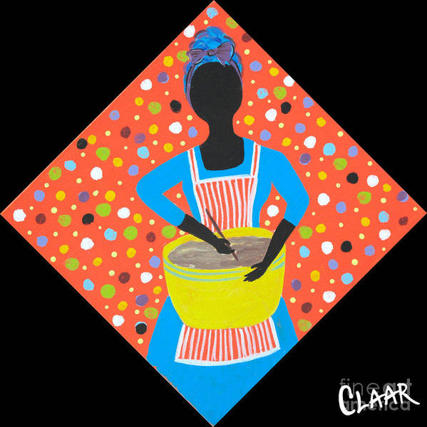 Gullah People Wall Art - Painting - Mixing Batter by Samantha Claar