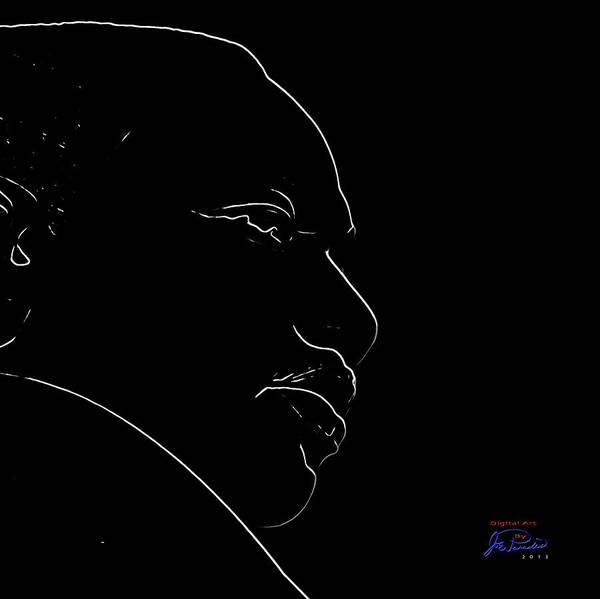 Mlk Digital Art - Mlk Silhouette by Joe Paradis