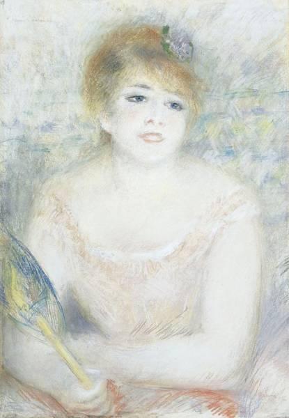 Wall Art - Pastel - Mademoiselle Jeanne Samary by Pierre Auguste Renoir