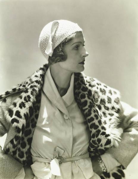Schiaparelli Photograph - Mme E D Exner In A Marie-christine Cap by George Hoyningen-Huene