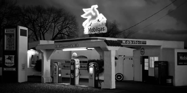 Kittitas County Wall Art - Photograph - Mobil Gas Station by Steve G Bisig