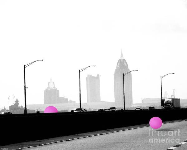 Digital Art - Mobile Bay Ball by Lizi Beard-Ward