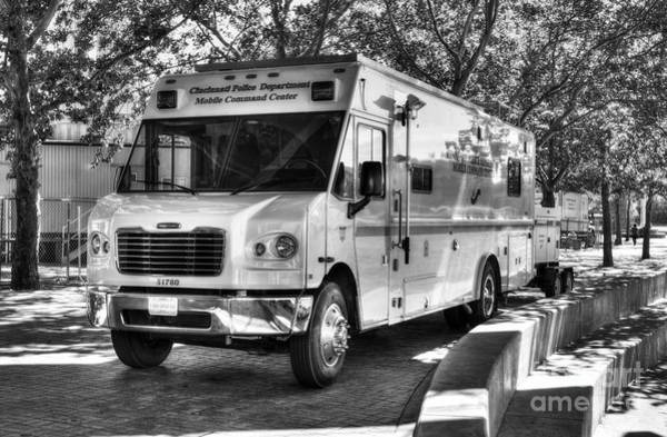 Photograph - Mobile Command Center Bw by Mel Steinhauer