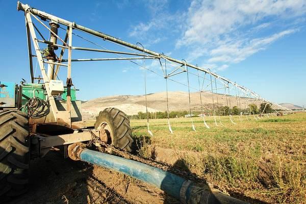Kibbutz Photograph - Mobile Irrigation Robot by Photostock-israel