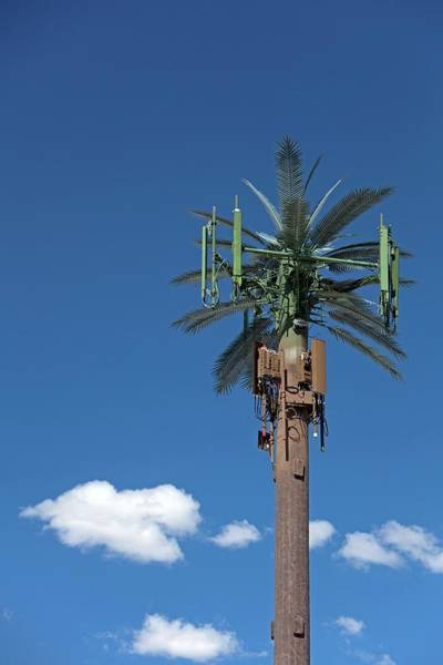 Mast Photograph - Mobile Phone Communications Tower by Jim West