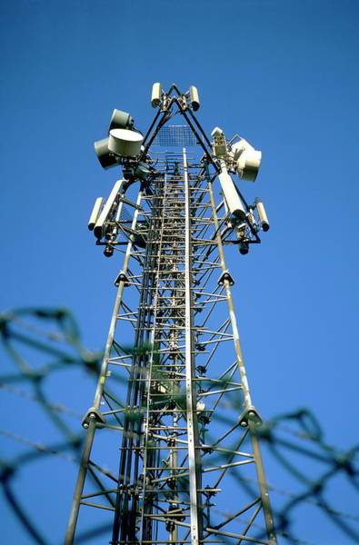Controversial Wall Art - Photograph - Mobile Phone Mast by Robert Brook/science Photo Library