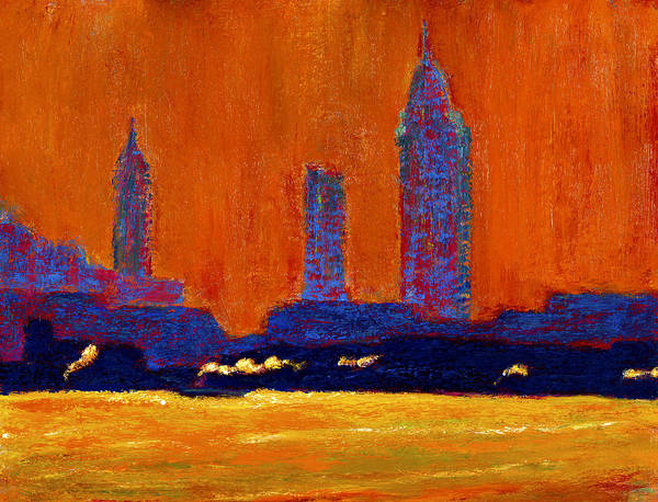 Painting - Mobile Skyline August Morning Light by Vernon Reinike