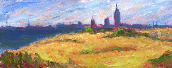 Painting - Mobile Skyline From Felixs Windy Day by Vernon Reinike
