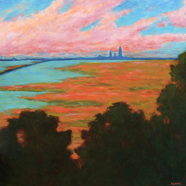 Painting - Mobile Skyline From The Eastern Shorte by Vernon Reinike
