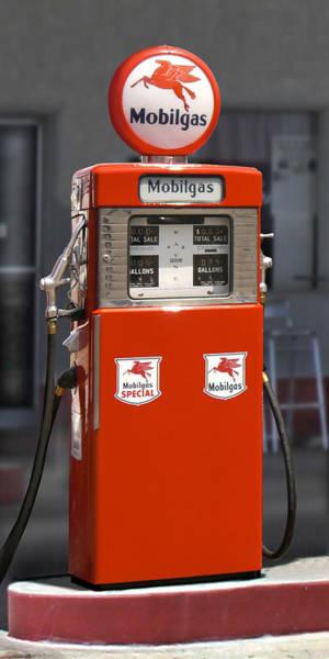 Pump Photograph - Mobilgas - Wayne Double Gas Pump by Mike McGlothlen
