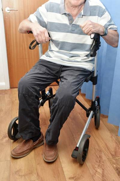 Elder Care Photograph - Mobility Frame With Wheels And Seat by Dr P. Marazzi/science Photo Library