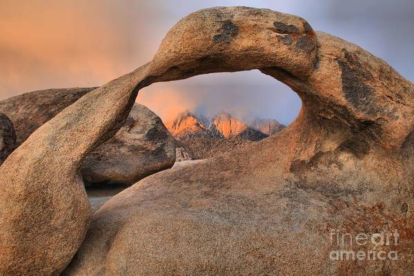 Photograph - Mobius Arch Foggy Sunrise by Adam Jewell