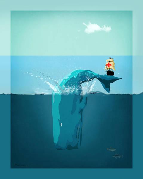 Whales Wall Art - Digital Art - Moby Dick by Mark Ashkenazi