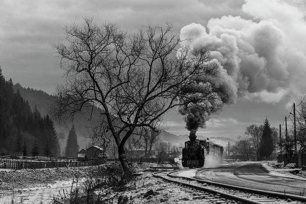 Steam Engine Photograph - Mocanita Hutulca by Sveduneac Dorin Lucian