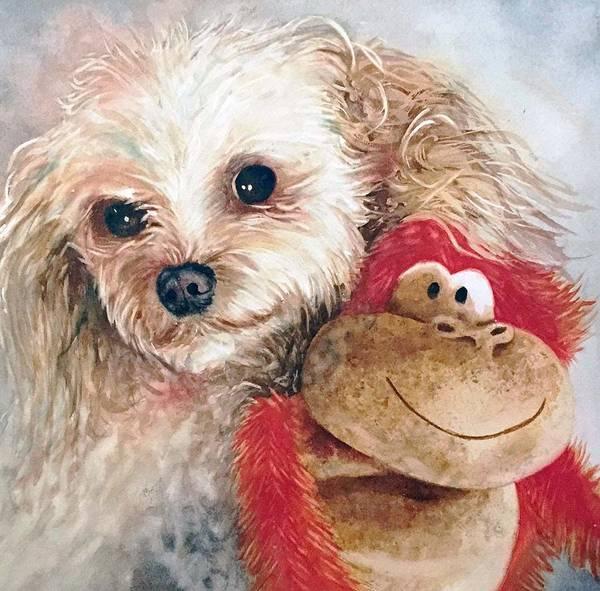 Painting - Mocha And Monkey by Diane Fujimoto