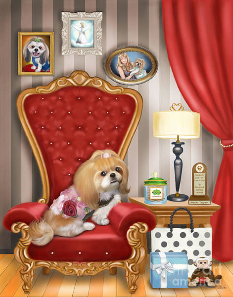Mixed Media - Mocha S Living Room by Catia Lee