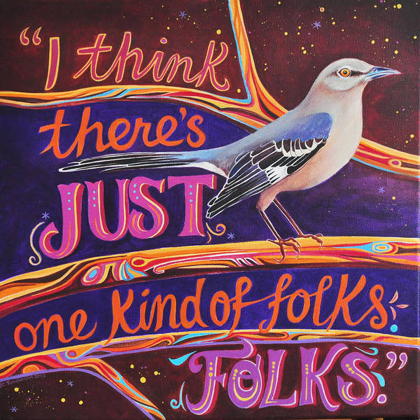 Wall Art - Painting - Mockingbird by Jane Tomlinson