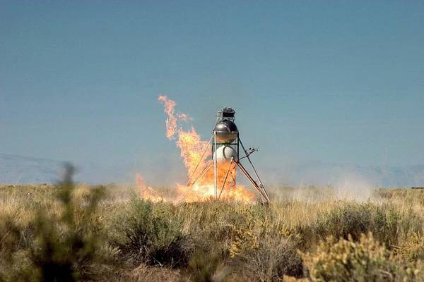 Mod Photograph - Mod-1 Lunar Lander On Fire by Louise Murray/science Photo Library