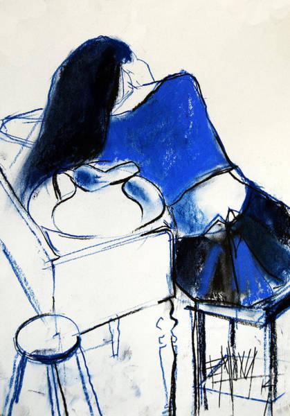 Wall Art - Drawing - Model #4 - Figure Series by Mona Edulesco
