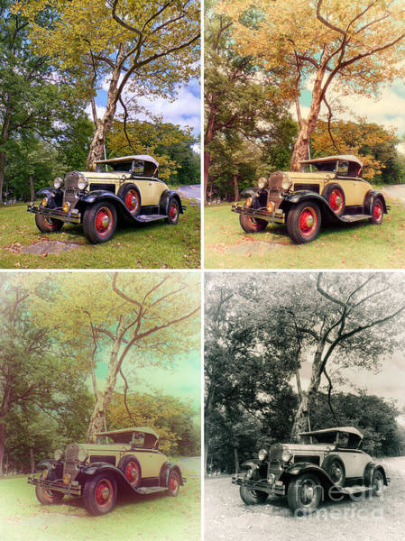 Photograph - Model A Roadster - Warhol Style by Mark Miller