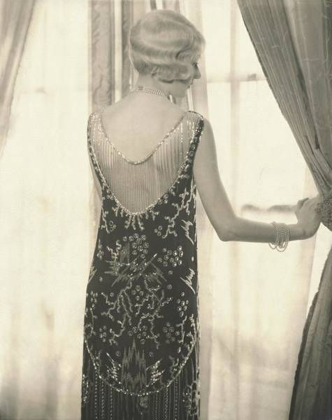 Gay Photograph - Model Alden Gay Standing In Front Of A Window by Edward Steichen