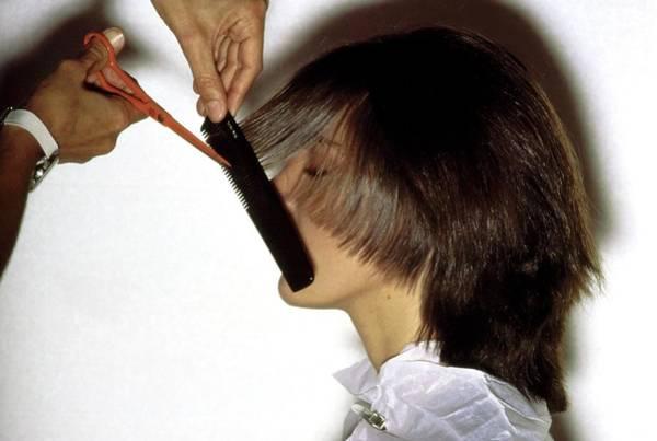 Groom Photograph - Model Getting A Haircut by Arthur Elgort