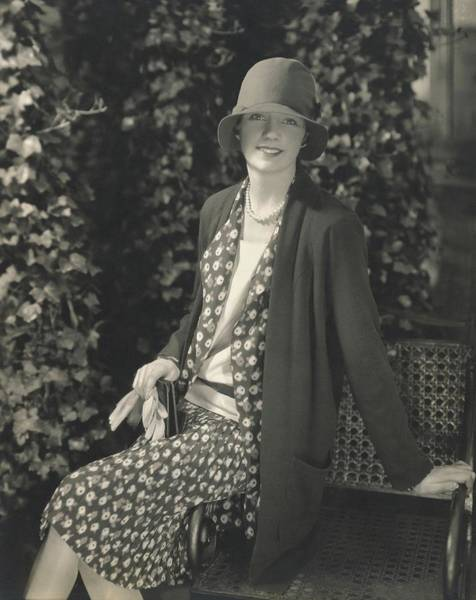 Sherman Photograph - Model Hannale Sherman Sitting Outside New York by Edward Steichen